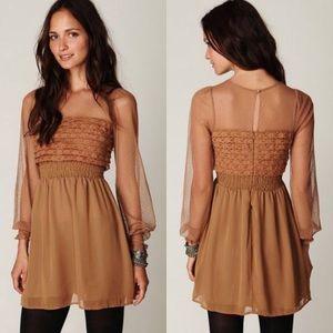 Free People Vintage Lace Long Sleeve Dress Size 4